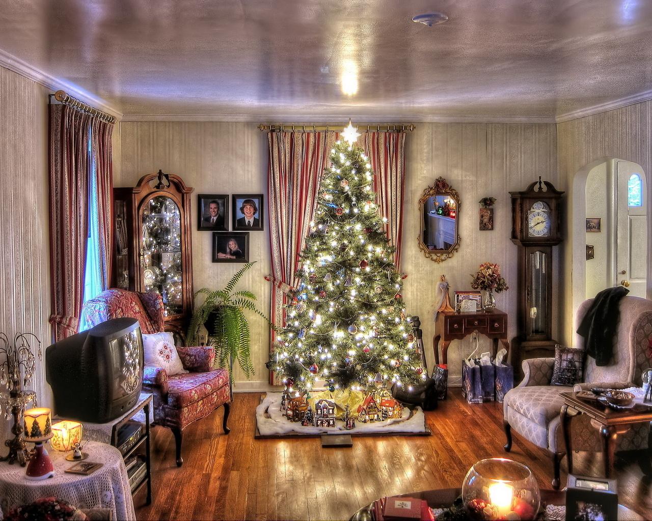 Украшаем квартиру на новый год