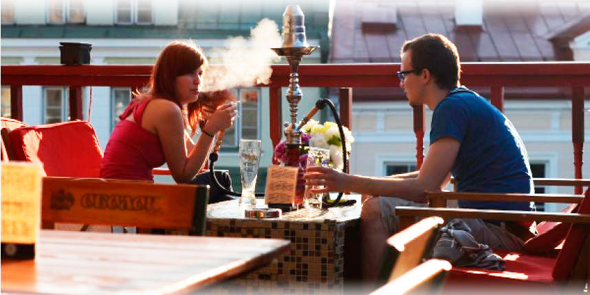 Летние кафе, где можно курить на веранде