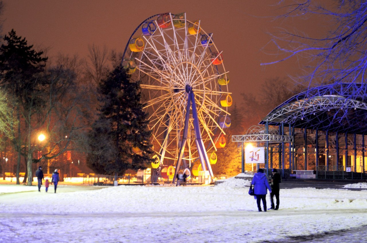 Новогодние гуляния в Москве 2016 в парке Горького