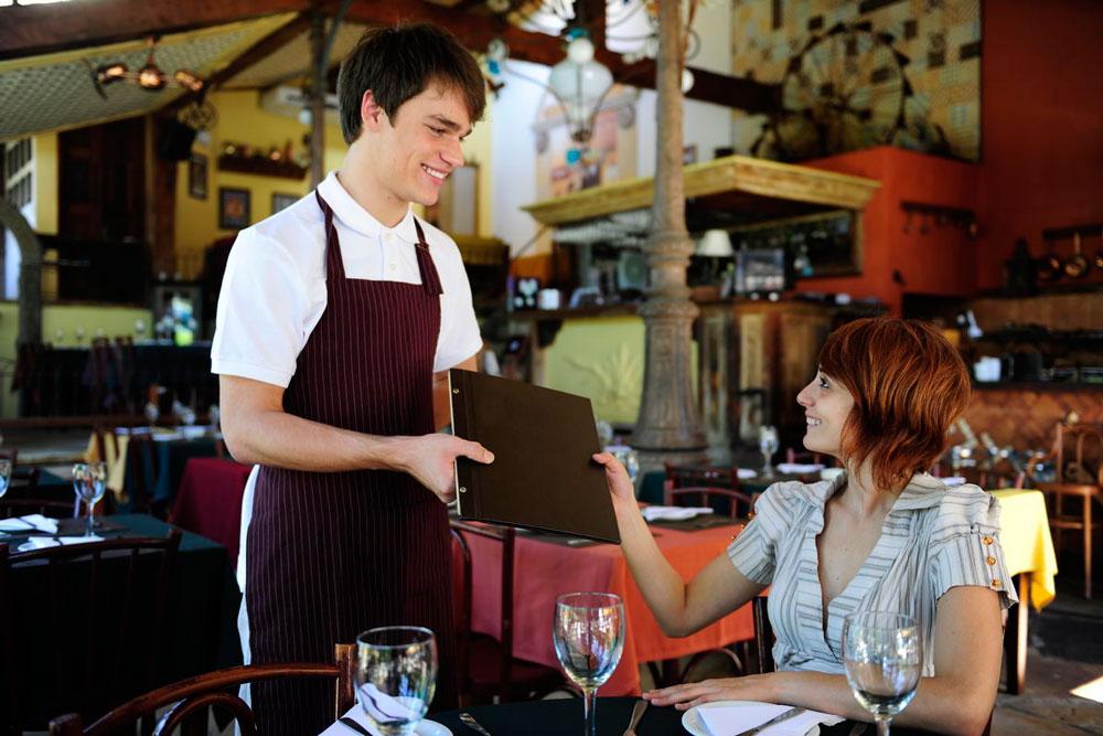официант в ресторан вакансии спб термобелье