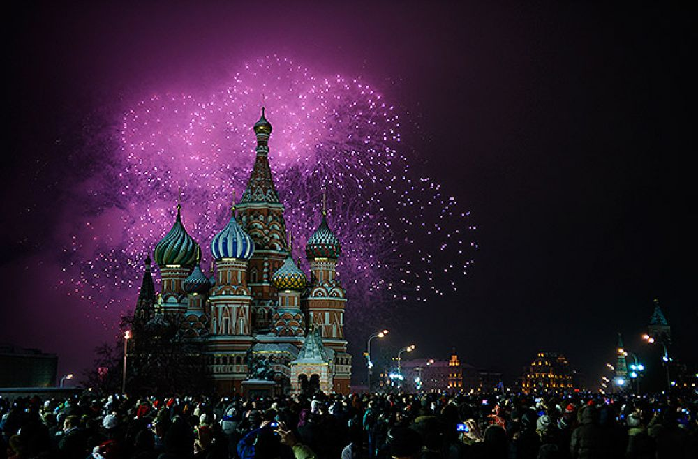 Гуляния в Москве на новый год 2015
