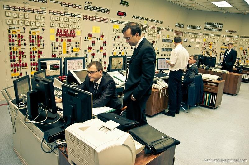 Зал управления АЭС