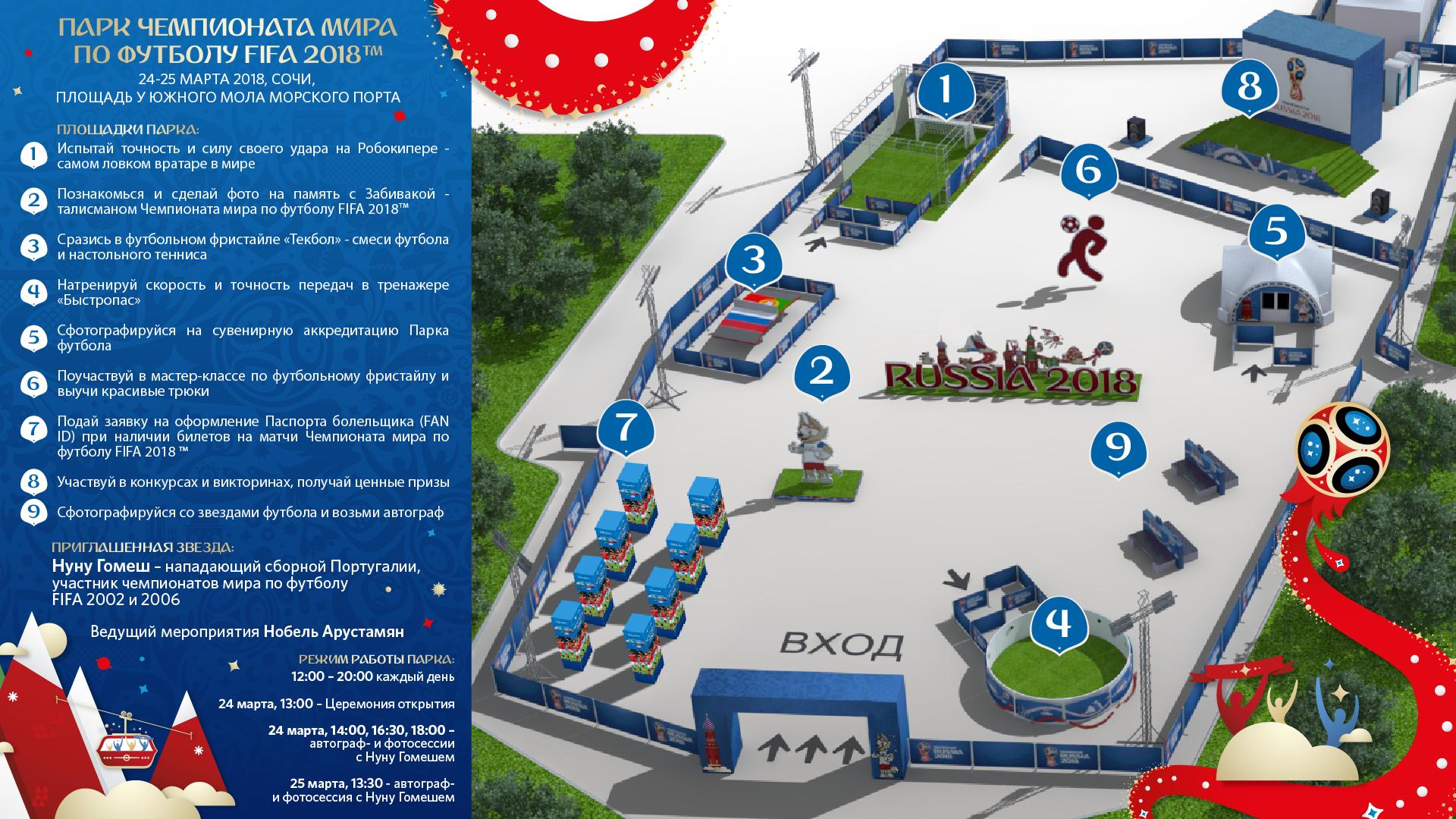 Парк футбола в Сочи 2018