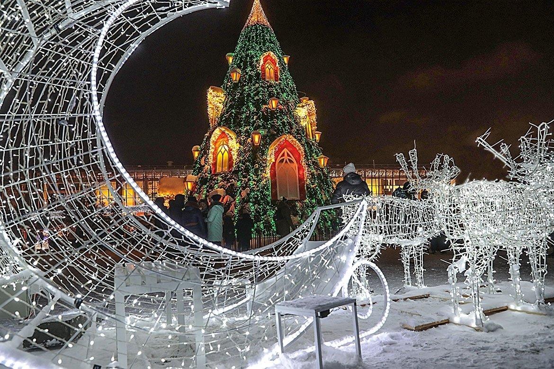 Новогодняя площадь Ханский двор
